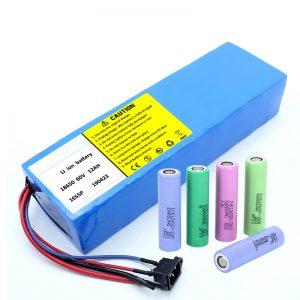 Литијумска батерија 18650 60В 12АХ литијум јонска пуњива батерија