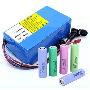 Литијумска батерија 18650 48В 12АХ 48В 500В електрична батерија са БМС-ом