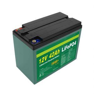 Одржавање Прилагођена соларна 12в 40ах 42ах Лифепо4 ћелијска Лифепо4 батерија са БМС-ом