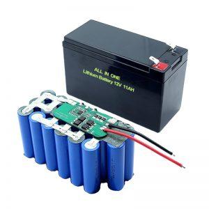 СВЕ У ЈЕДНОМ 18650 3С5П 12В волт литијумска батерија 11Ах пуњива литијумска батерија