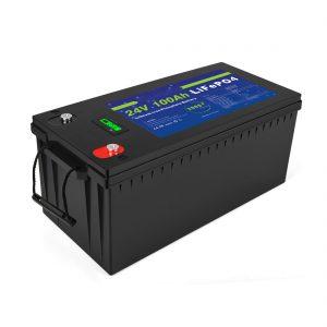Литијум -јонска батерија дубоког циклуса Лифепо4 24в 200ах соларна батерија за складиштење 3500+ циклуса литијум -јонска батерија