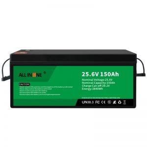 25,6В 150Ах ЛиФеПО4 замена оловне киселине литијум -јонска батерија 24В 150Ах