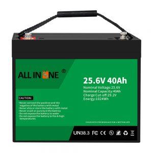 25,6В 40Ах литијум -гвожђе -фосфатна батерија/замена