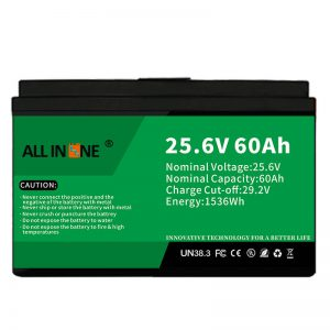 Сигурносна ЛФП батерија од 25,6 В 60Ах/дугог века трајања за РВ/Караван/УПС/Голф колица 24В 60Ах