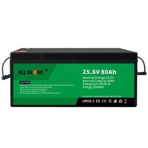 25,6В 80Ах сигурносна/дуготрајна ЛФП батерија за РВ/караван/УПС/голф колица 24В 80Ах