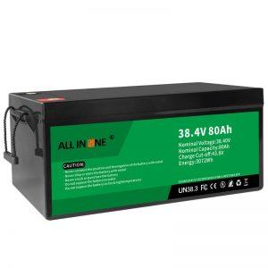 38.4В 80Ах ЛиФеПО4 Замена литијум -јонске батерије оловне киселине, 36В 80Ах