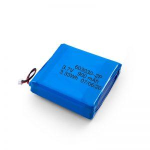Прилагођена пуњива 3.7В 450 530 550 700 750 800 900Мах Ли-По Липо батерија