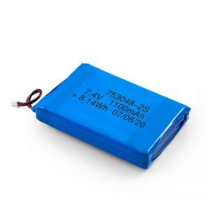 ЛиПО пуњива батерија 753048 3.7В 1100мАх / 7.4В 1100мАХ / 3.7В 2200мАХ