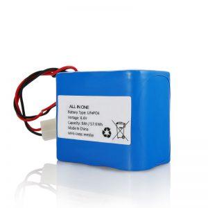 6,4В 12Ах ЛиФеПО4 пуњива литијумска 26650 32650 батерија са прикључком за соларно светло